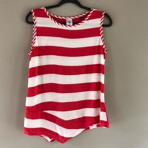 Cabi carousel tank red and white Stripes M
